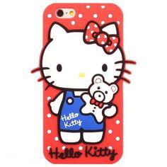 Llévalo por solo $82,600.Caja protectora estéreo Hello Kitty para iPhone 6 / 6S del gel de silicona del material.