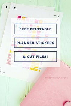 Free Printable Planner Stickers & Cut Files! Perfect for sticking in your Erin Condren planner or your own customised filofax set up! However you use your diary/planner, these transparent stickers can help you get organised!
