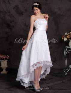 A-line Asymmetrical Lace Sweetheart Wedding Dress - $159.99