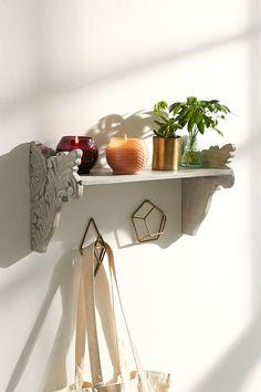 Plum & Bow Mara Carved Wood Wall Shelf - Urban Outfitters