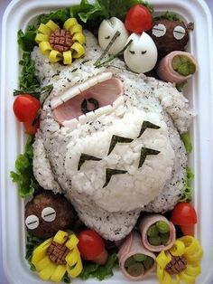 Totoro Bento box! :D You can add filler to the middle of totoro!