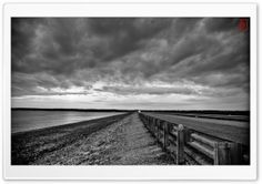 Trouble Approaching Black And White HD Wide Wallpaper for Widescreen