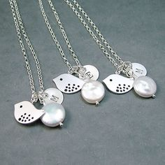 Personalized Bird Necklaces