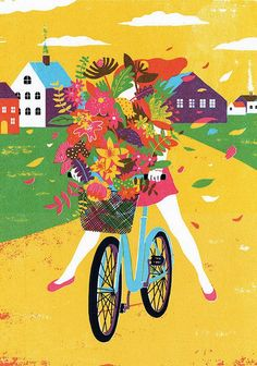 We're crazy about the colors in this print by Boyoun Kim. #art #etsy