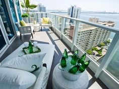 Take a look at the best florida condo balcony in the photos below and get ideas for your own luxury vacations! Patio Design Ideas : Outdoor Projects : HGTV Remodels The Balcony off Scott & mine's room? Condo Balcony, Small Balcony Decor, Outdoor Balcony, Apartment Balcony Decorating, Apartment Balconies, Condo Decorating, Small Patio, Outdoor Dining, Outdoor Spaces