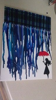 blue crayon art