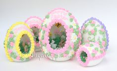 Beautiful Sugar Eggs (with scenes inside) in various sizes and styles...you can get ideas to make your own from this site but it is intended for you to be able to order them as gifts.