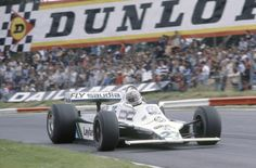 Alan Jones in the winning FW07B at the 1980 British GP at Brands Hatch