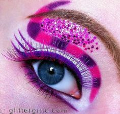 Cheshire Cat look by Cecilie using all Sugarpill eyeshadows and eyelashes!