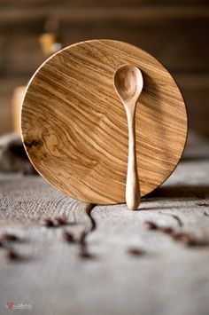 Hand crafted plate and spoon