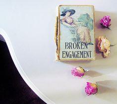 Vintage Romance Novel , Broken Engagement By Mrs EDEN Southworth , Art Nouveau Fiction , Edwardian Era Literature , Shabby Chic Decor by jarmfarm on Etsy https://www.etsy.com/listing/157876141/vintage-romance-novel-broken-engagement