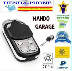 MANDO GARAJE GARAGE UNIVERSAL DUPLICADOR A DISTANCIA PUERTA 433.92-ENVIO ESPAÑA