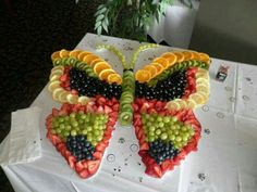 Butterfly Fruit Tray for Spring parties, birthday parties, showers ect...