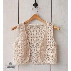 Seashell Vest, free pattern from Paton's.  Intermediate skill level, sizes XS - XLG  . . .  ღTrish W ~ http://www.pinterest.com/trishw/  . . . #crochet