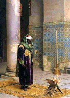 A Moorish Man Standing Before Prayer - 19TH CENTURY. #Moors #Moorish #Moor #African