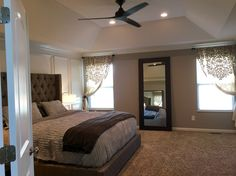 Completed Master Bedroom Upgrade With Sherwin Williams Requisite Gray And Extra White BedroomsBedroom IdeasMasters