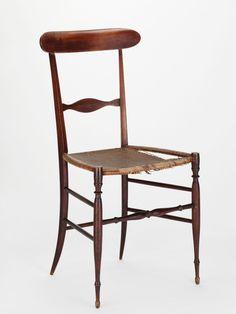 """Chiavari"" oder ""Campanino"" Stuhl (um 1845)"