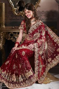 um, gorgeous red saree