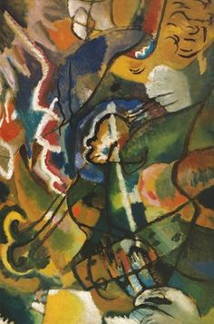 Dipinto con bordo bianco. Secondo studio - 1913 - Kandinsky Vassili - Opere d'Arte su Tela - Listino prodotti - Digitalpix - Canvas - Art - Artist - Painting