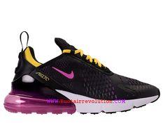 best sneakers 018c8 7299c Chaussures Nike Air Max 270 Gs Coussin Dair Classique Pas Cher Prix Femme  Violet noir AH8050