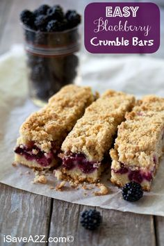 Easy Blackberry Crumble Bars Recipe! Perfect for Spring & Summer! #easyrecipes #bestrecipes