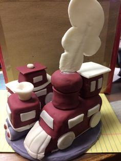 Train cake topper Cake Toppers, Train, Homemade, Desserts, Food, Tailgate Desserts, Deserts, Home Made, Essen