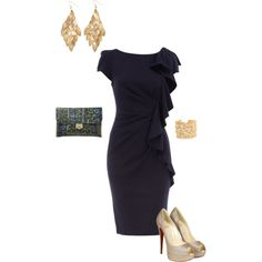 navy and gold, created by natjones1124