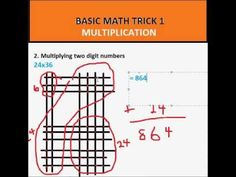 Basic Math Trick (Multiplication by Counting). Cool Lines Trick Cool Math Tricks, Daily Math, Basic Math, Fun Math, Multiplication, Teaching Math, Counting, School Stuff, Knowledge