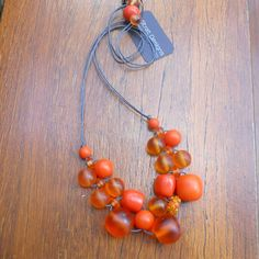 Fully adjustable, hand made on cotton cord with a delicious assortment of resin beads. Ball Necklace, Pendant Necklace, Cord, Resin, Bubbles, Orange, Beads, Cotton, Handmade