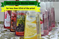 Bath & Body Works Soap for 1/3rd of the price! www.aninvitinghome.com #foamsoap