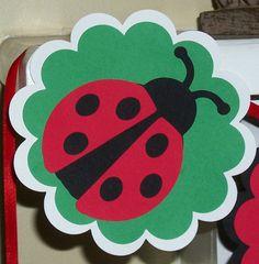 cute little ladybug birthday banner