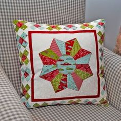 Great Granny Square Pillow with a twist by Sheri Falls....and Sweetwater, I see you!