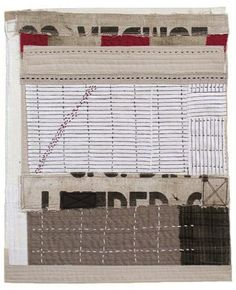Hidden Pathway by Lisa Hochstein - Hand stitching on salvaged fabric
