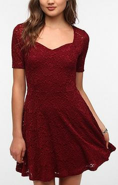 """Red. (Marley's """"New Directions"""" Dress in Glee S5)."""