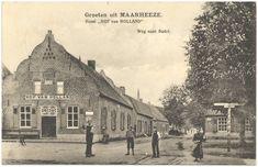 Oranje Nassaulaan, met links Hotel Hof van Holland, daarachter zaadhandel van Jac Praats, het woonhuis van oud-burgemeester Jac Schepens (1886–1906) en de strouwselhoop voor de potstal. Rechts staat de boerderij van oud-burgemeester H. van Hooff. Op de voorgrond Toon en Nol Immers en daarnaast Driek Noten