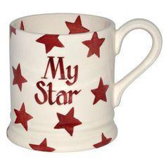 Personalised Red Star 1/2 Pint Mug at Emma Bridgewater