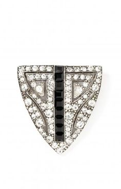 Ben-Amun  Deco Shield Brooch  $145.00