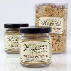 Wild-foraged Porcini Polenta, Porcini Salt, and Porcini Powder Truffle Mushroom, Artisan Food, Kitchen Cupboards, Polenta, Cool Kitchens, Pantry, Harvest, Stuffed Mushrooms, Truffles