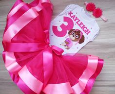 Paw Patrol Birthday Girl tutu outfit, skye birthday tutu set, skye birthday outfit, Personalized Birthday Skye Paw Patrol Shirt and Tutu Paw Patrol Birthday Girl, Baby Girl 1st Birthday, Birthday Tutu, Skye Paw Patrol Costume, Paw Patrol Outfit, Minnie Mouse Birthday Outfit, 1st Birthday Outfits, Pink Minnie, Tutu Outfits