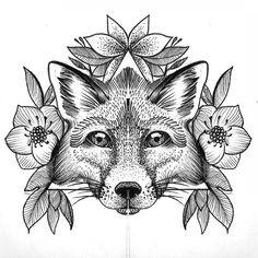 Bilderesultat for white fox tattoo