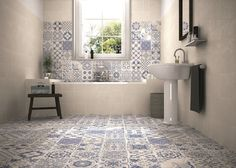 Skyros Delft Blue Wall and Floor Tile - Wall Tiles from Tile Mountain