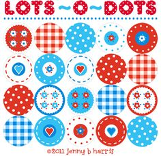 lots-o-dots printable.  can be used for a mobile, garland, or cupcake toppers