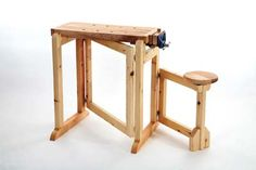 Folding workbench.  Might be handy in a small craft room.