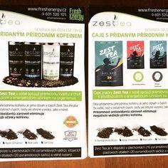 Dvě verze zbrusu nových reklamních letáků, ze kterých doslova sálá čerstvá energie. :-) #freshenergy #freshenergycz #zesttea #energie #caj #kofein