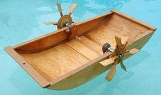 Kid's paddle wheel boat plans