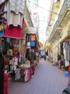 "The ""kasba"" or market in Tangier, Morocco."
