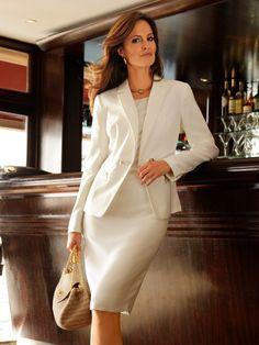 Classic white suit. Love it!