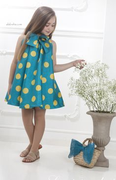 VOGUE ENFANTS: La stupenderia will take you on a fabulous enchanted garden! Little Dresses, Little Girl Dresses, Cute Dresses, Girls Dresses, Little Girl Fashion, Toddler Fashion, Kids Fashion, African Dresses For Kids, African Fashion Dresses