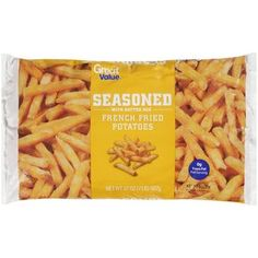 Great Value Seasoned French Fries- Only 4 Weight Watchers points plus for 22 fries! My new favorite snack/side dish!