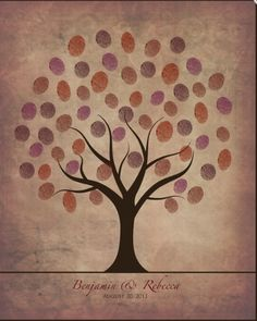 Thumb print tree .a nice gift for your partner or your mum?